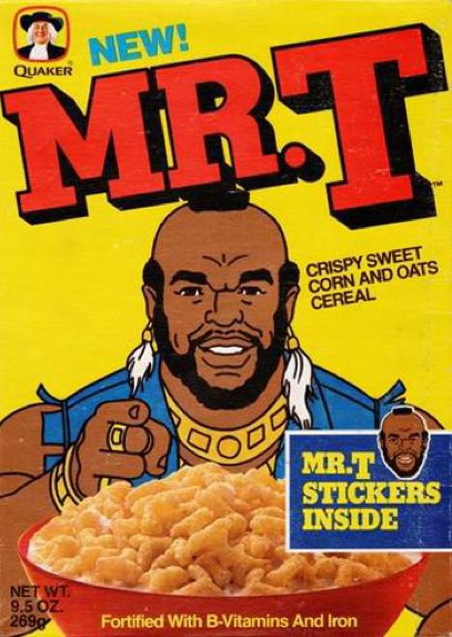 A box of Mr. T cereal